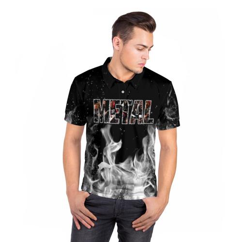 Мужская рубашка поло 3D  Фото 05, Metal