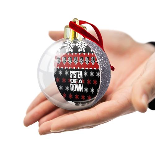 Ёлочный шар с блестками  Фото 03, Праздничный System of a Down