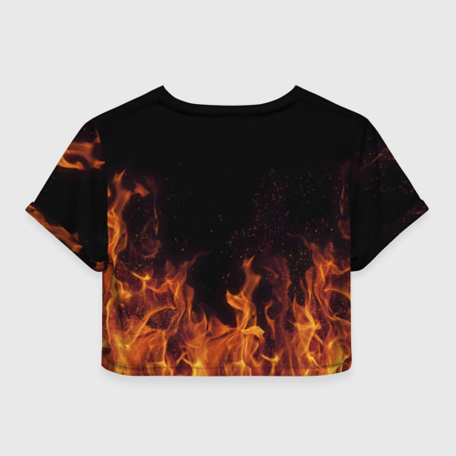 Женская футболка 3D укороченная  Фото 02, Алёна огонь баба