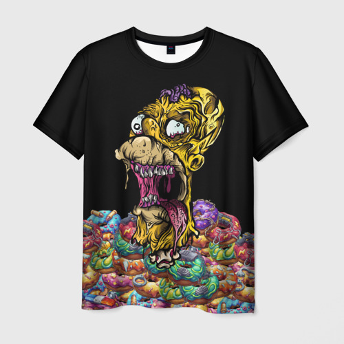 Мужская футболка 3D ЗОМБИ ГОМЕР