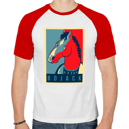 Мужская футболка реглан  Фото 01, BoJack Horseman