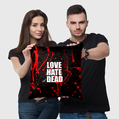 Подушка 3D  Фото 05, LOVE, HATE, DEAD