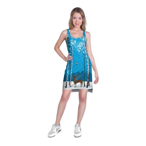 Платье-майка 3D  Фото 03, Зимний пейзаж