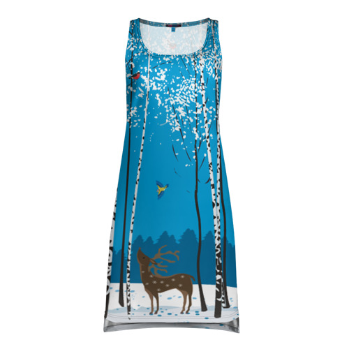 Платье-майка 3D  Фото 01, Зимний пейзаж