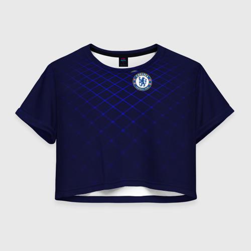 Женская футболка Crop-top 3D Chelsea 2018  Uniform Фото 01