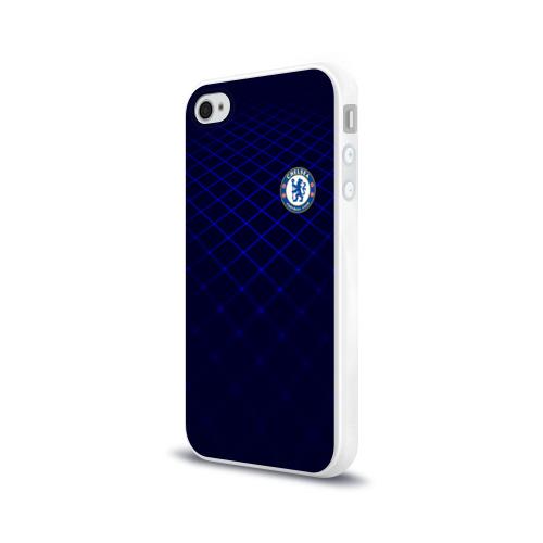 Чехол для Apple iPhone 4/4S силиконовый глянцевый Chelsea 2018  Uniform Фото 01