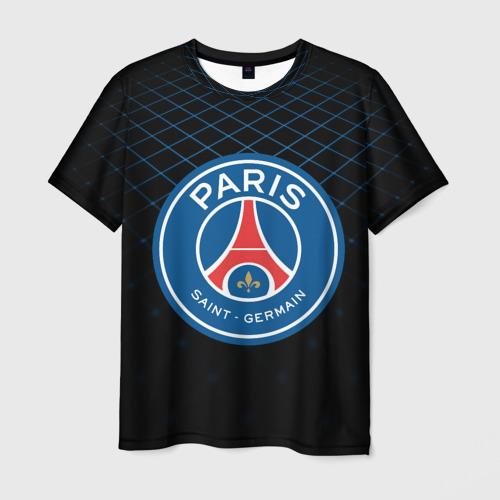 Мужская футболка 3D  Фото 01, PSG 2018 Line