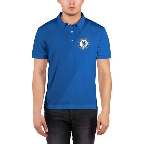 Мужская рубашка поло 3D Chelsea  2018 Элитная форма Фото 01