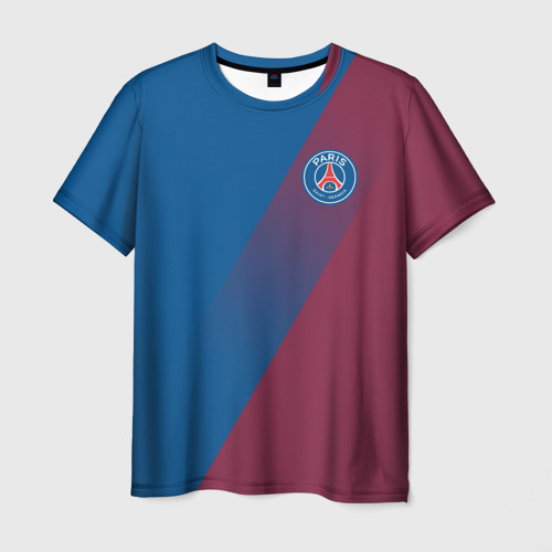 Мужская футболка 3D  Фото 03, PSG 2018 Элитная форма