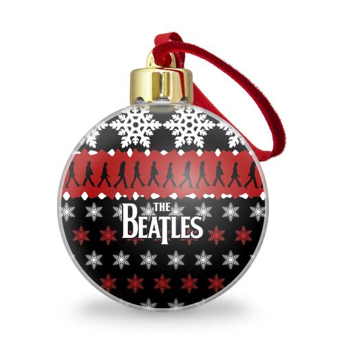 Ёлочный шар с блестками  Фото 01, Праздничный The Beatles