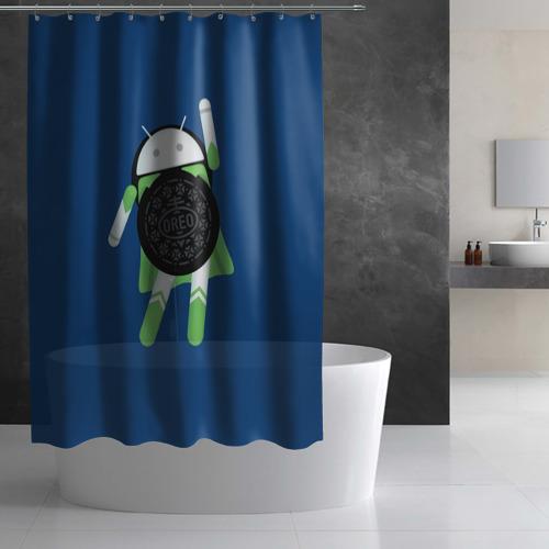 Штора 3D для ванной  Фото 03, Android Oreo