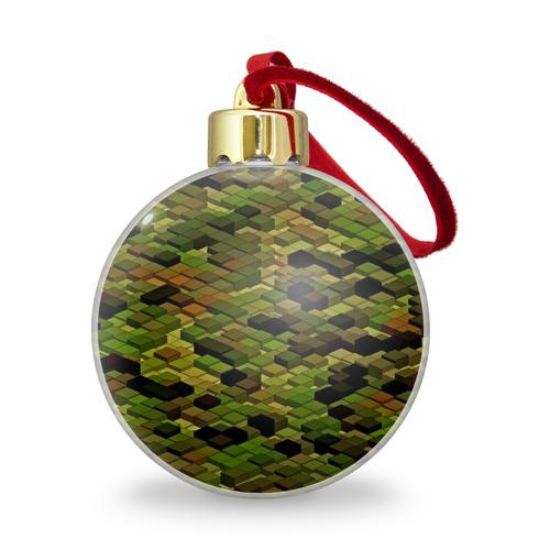 Ёлочный шар с блестками  Фото 01, block camouflage