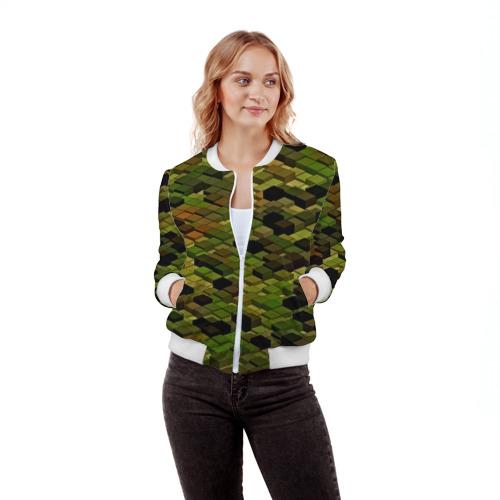 Женский бомбер 3D  Фото 03, block camouflage