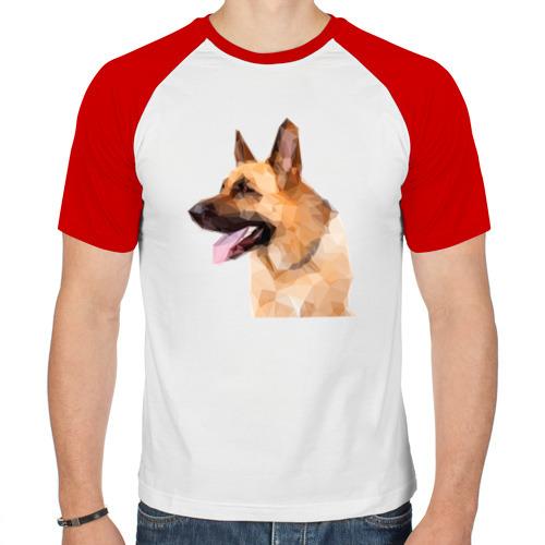 Мужская футболка реглан  Фото 01, Немецкая овчарка геометрия