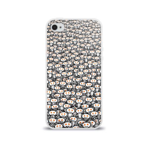 Чехол для Apple iPhone 4/4S силиконовый глянцевый Reddit army Фото 01