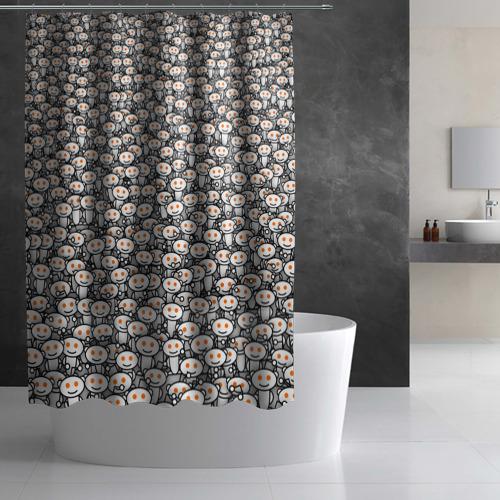 Штора 3D для ванной Reddit army Фото 01