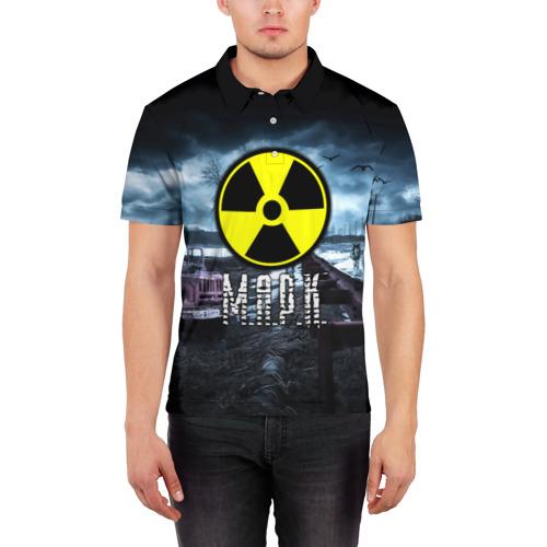 Мужская рубашка поло 3D  Фото 03, S.T.A.L.K.E.R. - М.А.Р.К.