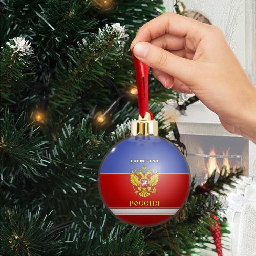 Ёлочный шар с блестками  Фото 04, Хоккеист Костя