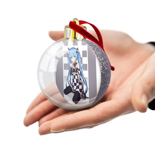 Ёлочный шар с блестками  Фото 03, мику