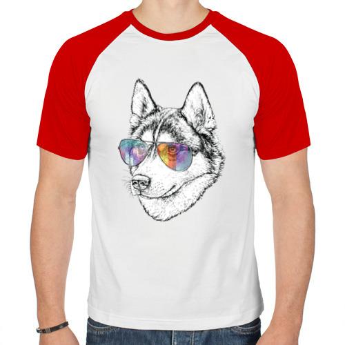 Мужская футболка реглан  Фото 01, Хаски в очках