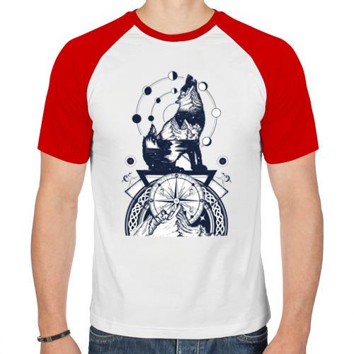 Мужская футболка реглан  Фото 01, Сибирский хаски