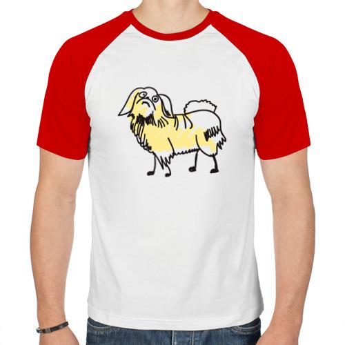 Мужская футболка реглан  Фото 01, Забавный пекинес