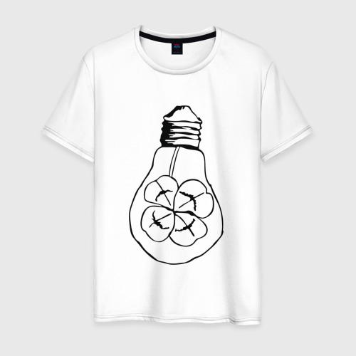 Мужская футболка хлопок Лампочка Клевер Фото 01