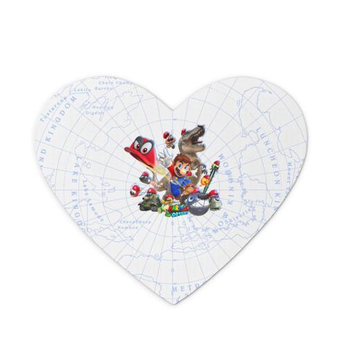 Коврик для мыши сердце  Фото 01, Марио