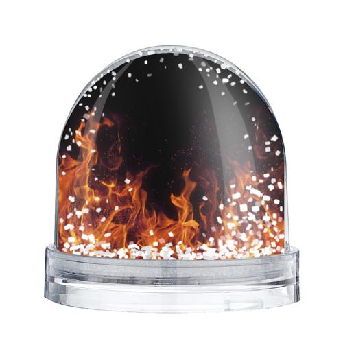 Водяной шар со снегом  Фото 02, Лиза огонь баба