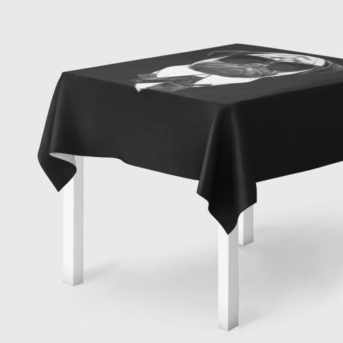 Скатерть 3D  Фото 01, Мопс в черном