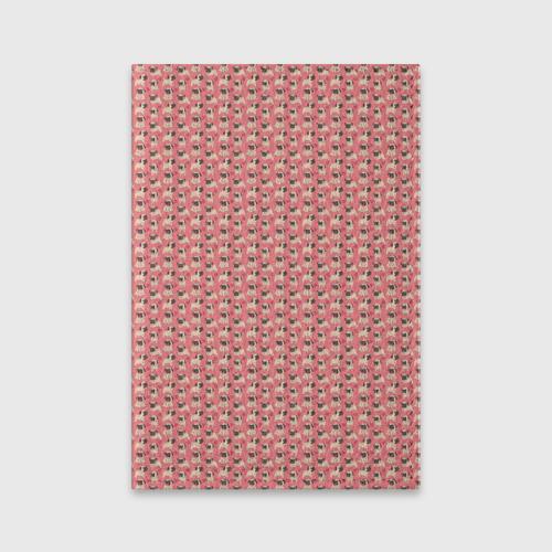 Мопсики на розовом