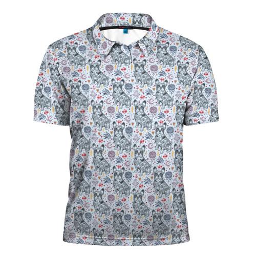 Мужская рубашка поло 3D  Фото 01, Бульдожки
