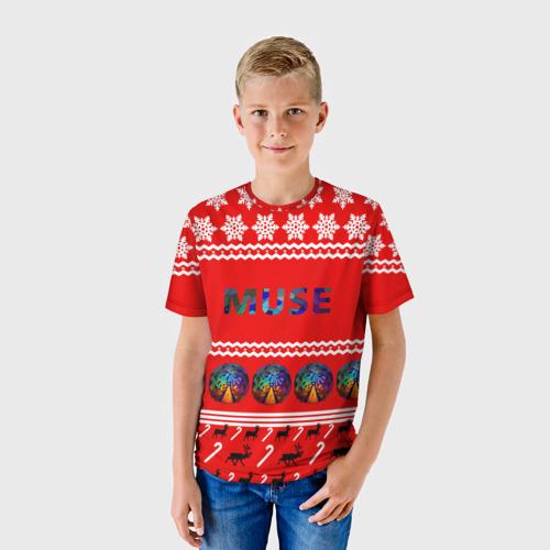 Детская футболка 3D Праздничный Muse