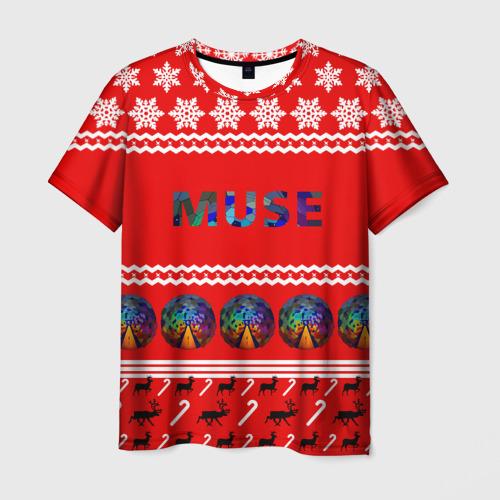 Мужская футболка 3D Праздничный Muse