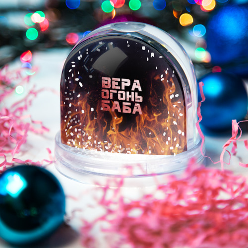 Водяной шар со снегом  Фото 03, Вера огонь баба