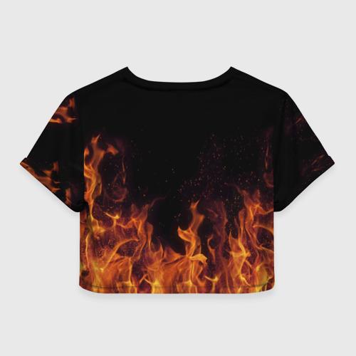 Женская футболка 3D укороченная  Фото 02, Вера огонь баба