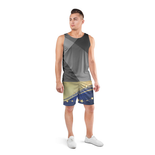 Мужские шорты 3D спортивные  Фото 04, Новогоднее чудо