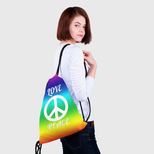 Рюкзак-мешок 3D Love and Peace Фото 01