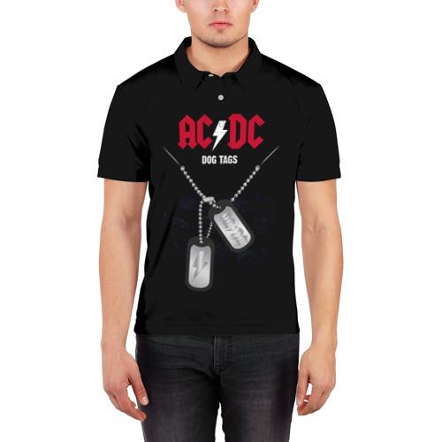 Мужская рубашка поло 3D  Фото 03, AC/DC