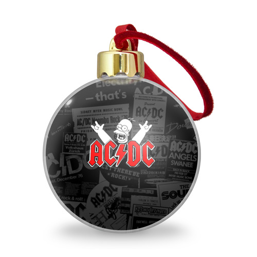 Ёлочный шар с блестками  Фото 01, AC/DC