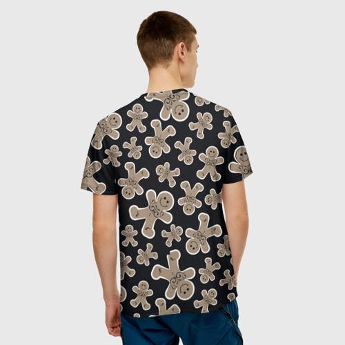Мужская футболка 3D  Фото 02, Зимние узоры