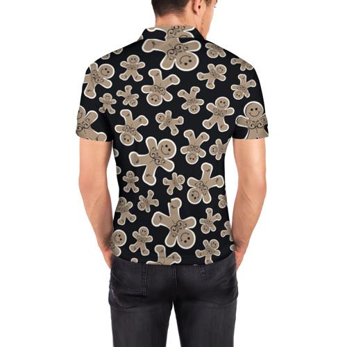 Мужская рубашка поло 3D  Фото 04, Зимние узоры