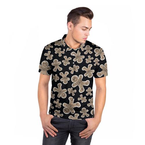 Мужская рубашка поло 3D  Фото 05, Зимние узоры