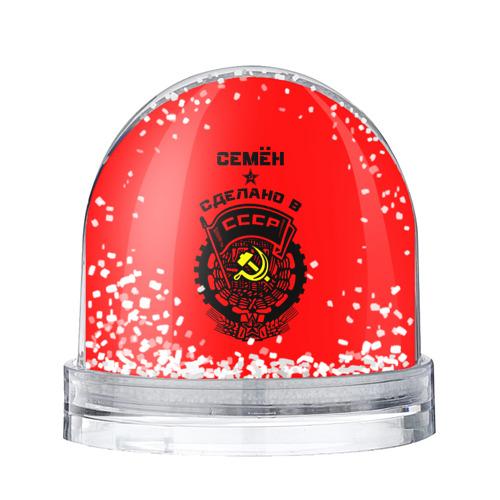 Водяной шар со снегом Семён - сделано в СССР