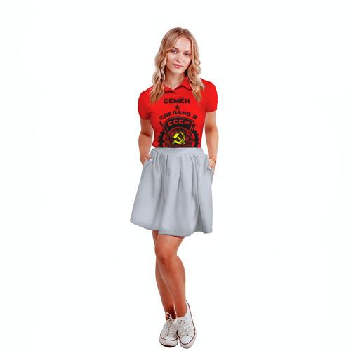 Женская рубашка поло 3D  Фото 04, Семён - сделано в СССР