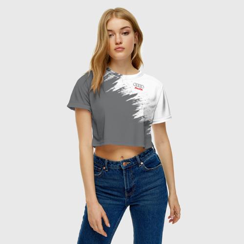 Женская футболка 3D укороченная  Фото 04, Audi