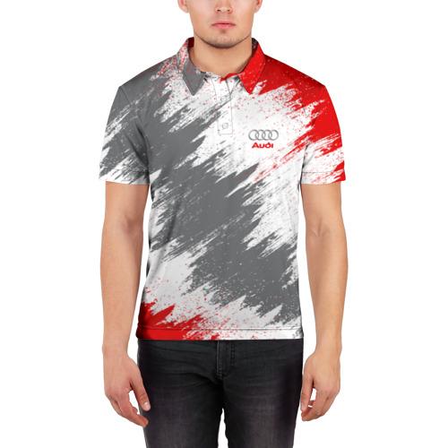 Мужская рубашка поло 3D  Фото 03, Audi