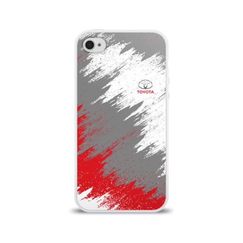 Чехол для Apple iPhone 4/4S силиконовый глянцевый Toyota Фото 01