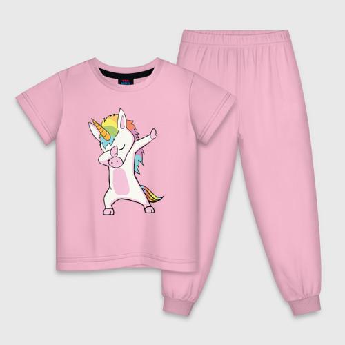 Детская пижама хлопок Единорог радуга  Фото 01