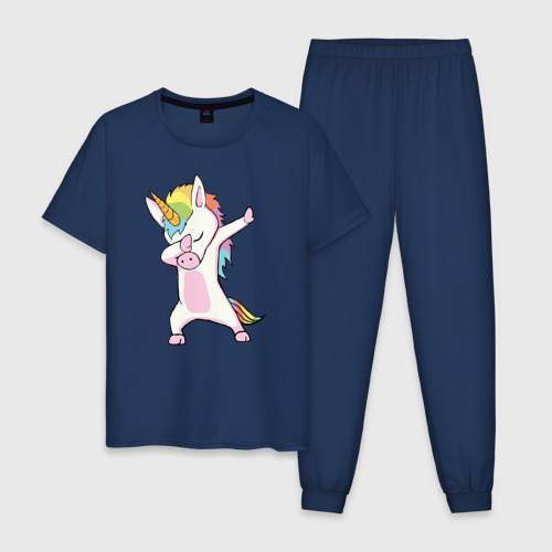 Мужская пижама хлопок Единорог радуга  Фото 01
